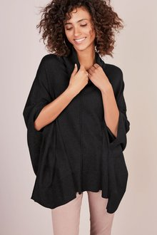 Next Deluxe Roll Neck Poncho
