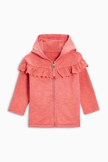 Next Frill Zip Through Hoody (3mths-6yrs)