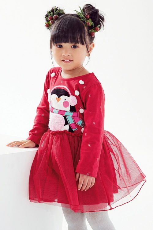 Next Xmas Penguin Dress (3mths-6yrs)