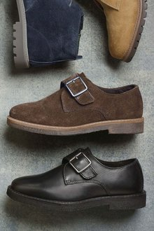 Next Suede Monk Shoes (Older Boys)
