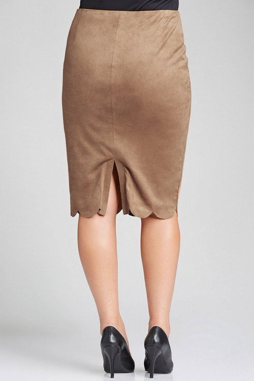Sara Faux Suede Skirt