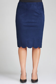 Plus Size - Sara Faux Suede Skirt