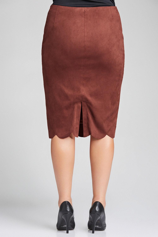8d7ed28a0edfd Plus Size - Sara Faux Suede Skirt