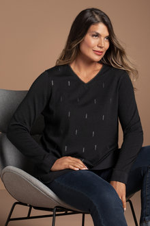 Plus Size - Sara Lurex Merino Tunic