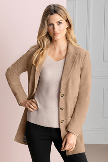 Grace Hill Suede Coat - 192347