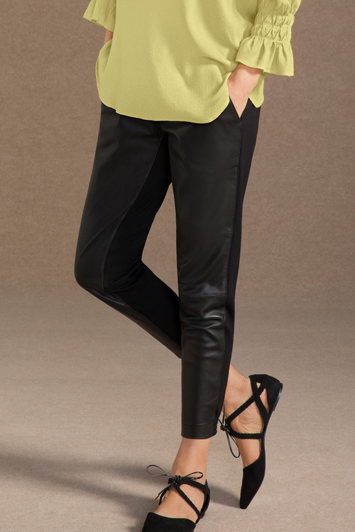 Grace Hill Leather Front Jogger