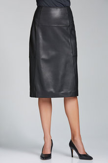 Grace Hill Leather Skirt
