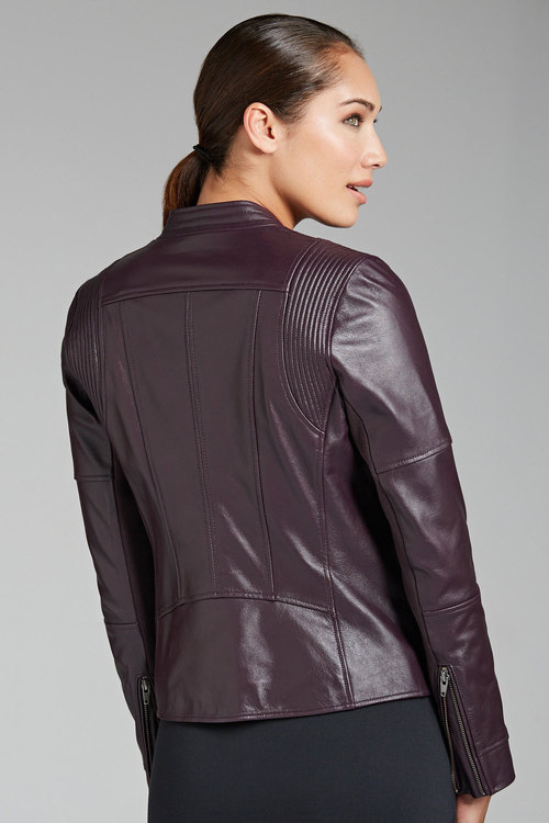 Capture Leather Biker Jacket