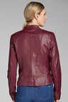 Emerge Leather Collarless Jacket