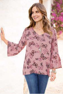 Together Fluted Sleeve Blouse