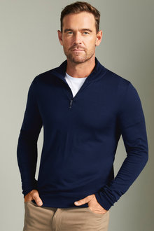Southcape Merino 1/2 Zip Jumper - 192472