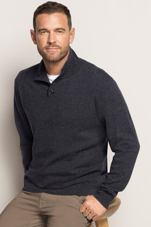 Southcape Lambswool 1/2 Button Sweater