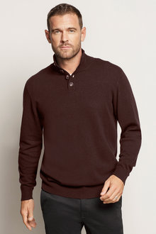 Southcape Lambswool 1/2 Button Sweater - 192473
