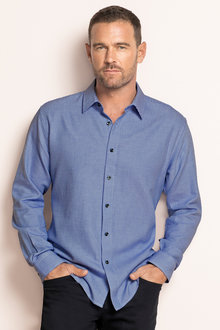 Southcape Blue Check Regular Fit Shirt