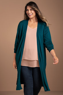 Plus Size - Sara Chiffon Back Cardigan