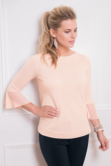 Together Flute Sleeve Sweater