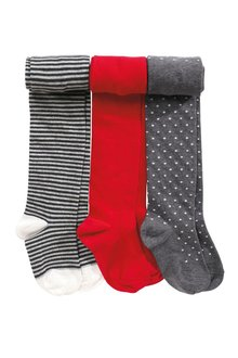 Next Stripe And Spot Tights Three Pack (3-16yrs)