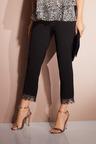 European Collection Lace Hem Pants