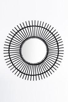 Davis Round Rattan Mirror