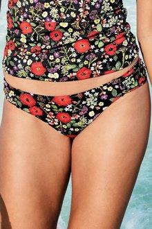Next Ditsy Print High Leg Bikini Briefs