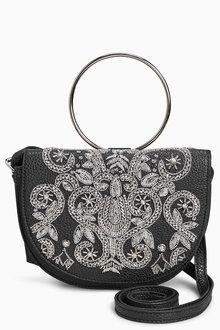 Next Embellished Ring Across Body Bag