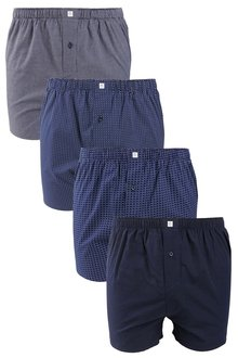 Next Pattern Woven Boxers Four Pack