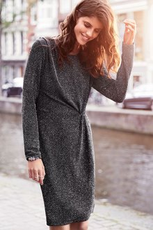 Next Glitter Twist Dress - Petite
