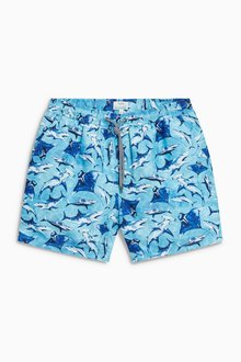 Next Shark Print Swim Shorts