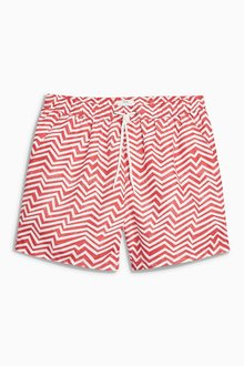 Next Chevron Print Swim Shorts