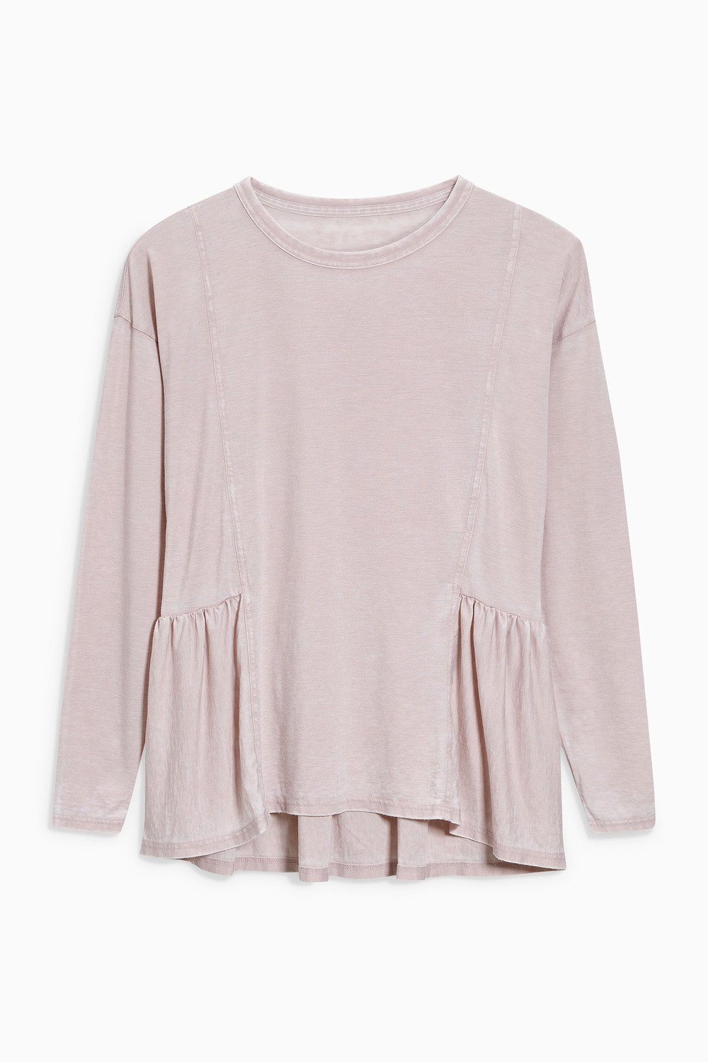 Next Washed Long Sleeved Peplum Top