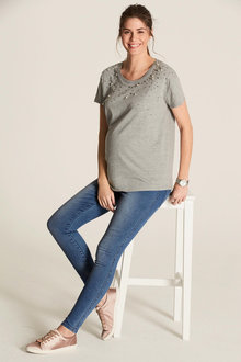 Next Maternity Pearl Detail Top