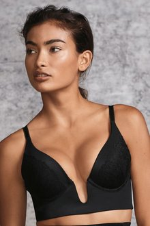 Next Cara Push Up Deep Plunge Lace Bra