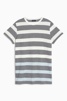 Next Dip Dye Stripe T-Shirt (3-16yrs)