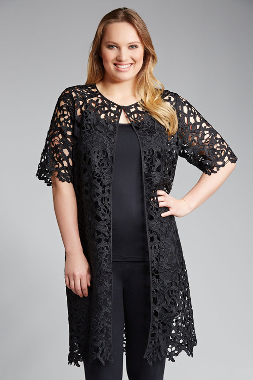 Plus Size - Sara Lace Jacket