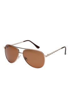 Heather Polarised Aviator Sunglasses