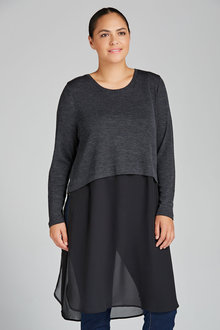 Plus Size - Sara Merino Longline Tunic