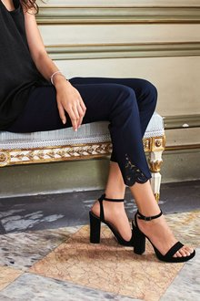 Next Lace Hem Skinny Trousers - Tall
