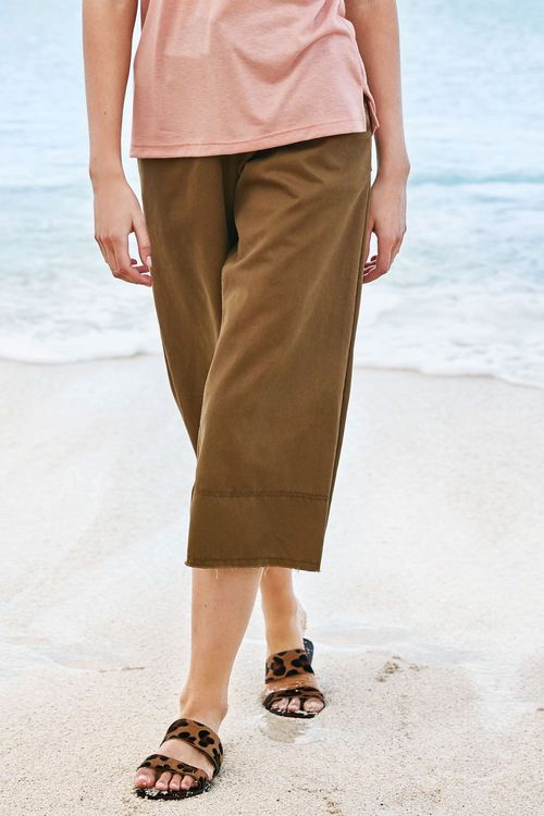 Next Lace-Up Front Wide Leg Trousers - Tall