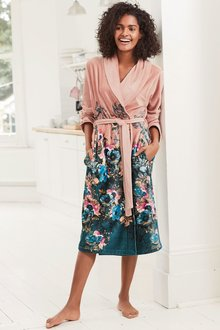 Next Floral Border Robe