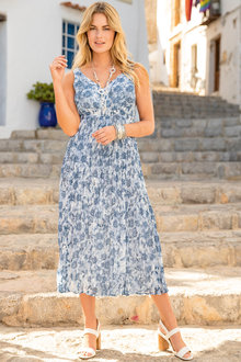 Together V Neck Printed Dress