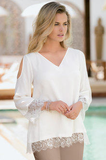 Together Lace Trim Top
