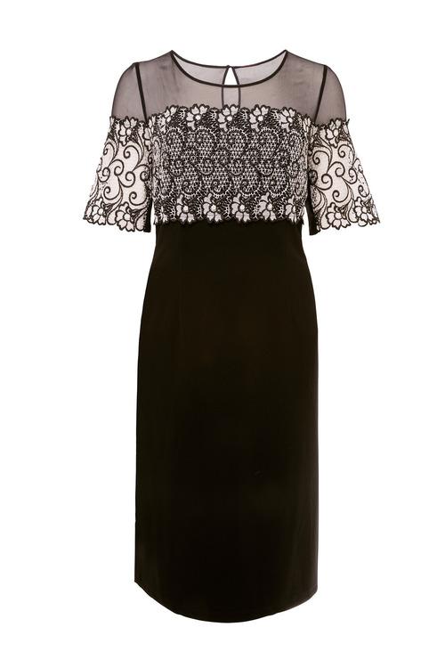 European Collection Tonal Lace Dress