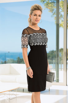 European Collection Tonal Lace Dress