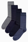 Next Bamboo Micro Spot Socks Four Pack