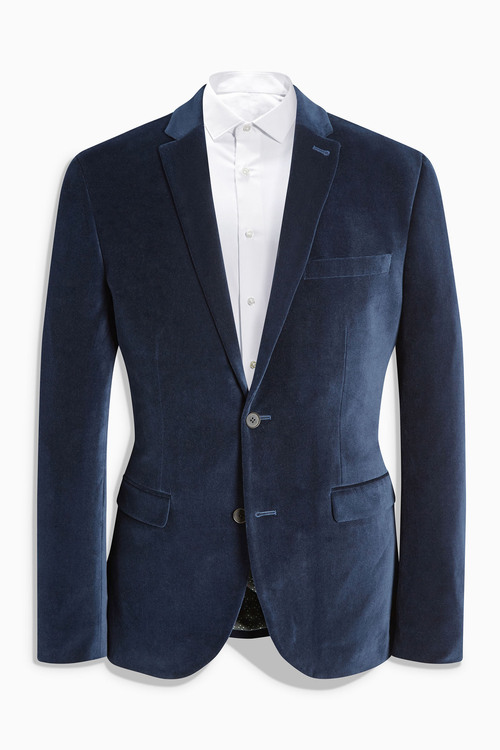 Next Velvet Slim Fit Jacket