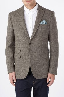 Next Clissold Textured Wool Jacket - Tailored Fit