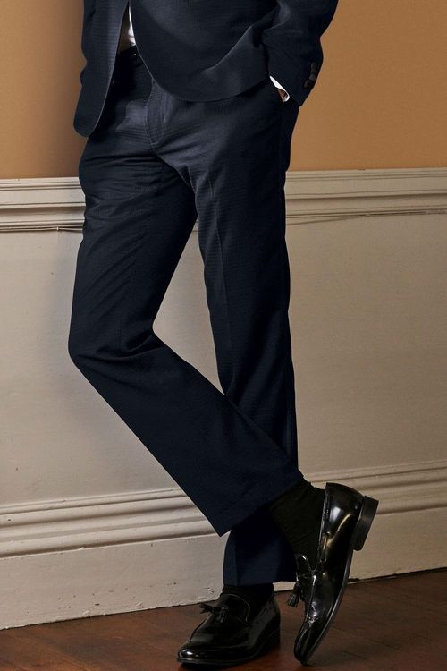 Next Textured Slim Fit Suit: Trousers