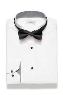 Next Wing Collar Regular Fit Shirt And Bow Tie Set - 194089