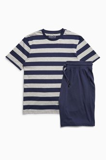 Next Wide Stripe Short Set