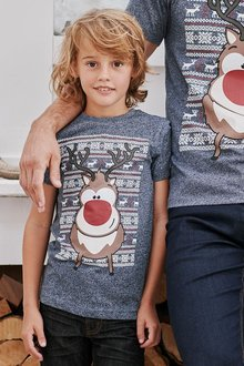 Next Rudolph T-Shirt (3-16yrs)